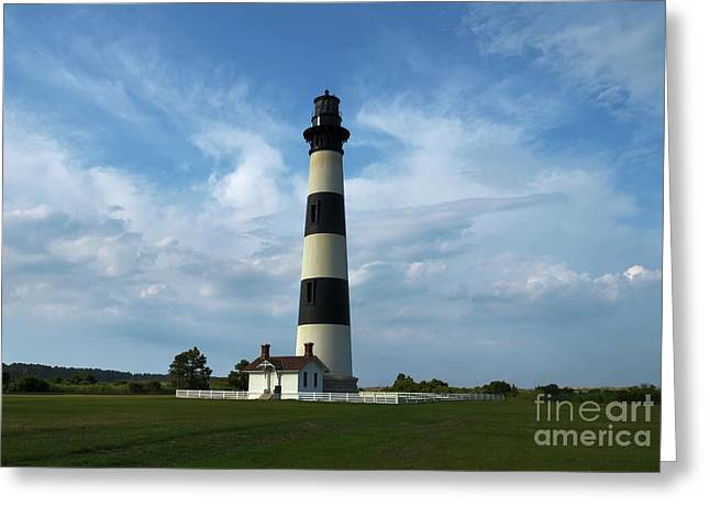 Barrier Island Greeting Cards - Bodie Island Lighthouse Greeting Card by Mel Steinhauer