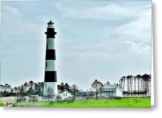 Bodie Island Lighthouse - Outer Banks North Carolina Greeting Card by Kim Bemis
