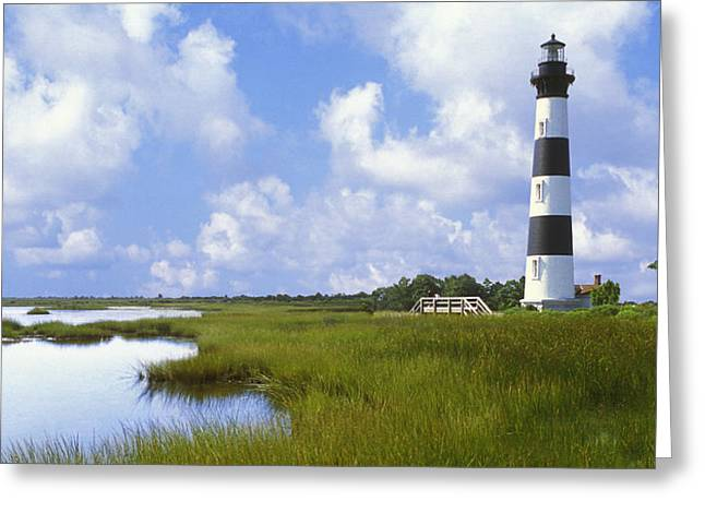Coastal Art North Carolina Greeting Cards - Bodie Light 3 Greeting Card by Mike McGlothlen
