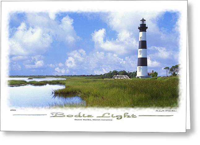 Coastal Art North Carolina Greeting Cards - Bodie Light  S P Greeting Card by Mike McGlothlen
