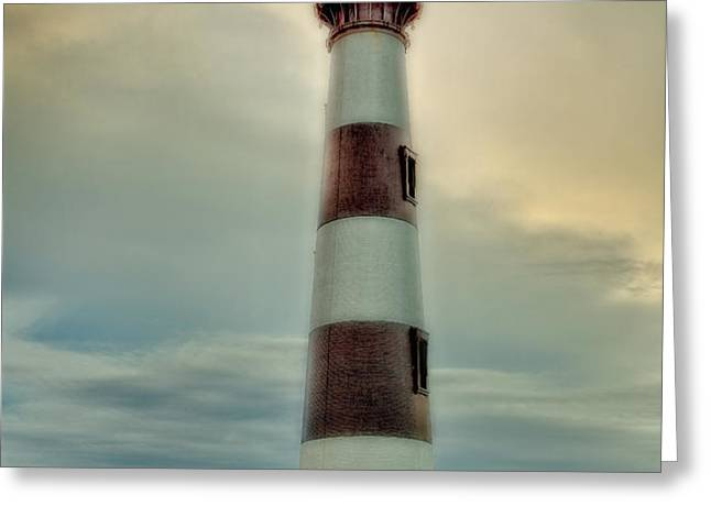 Bodie Lighthouse Outer Banks Abstract Painting Greeting Card by Dan Carmichael