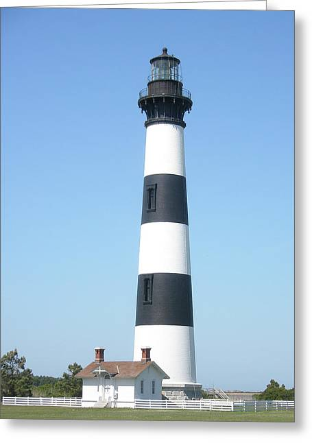 Mother Nature Greeting Cards - Bodie Lighthouse - Outer Banks NC Greeting Card by Mother Nature