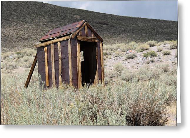 Bodie Out House Greeting Cards - Bodie Outhouse 16 Greeting Card by Lydia Warner Miller