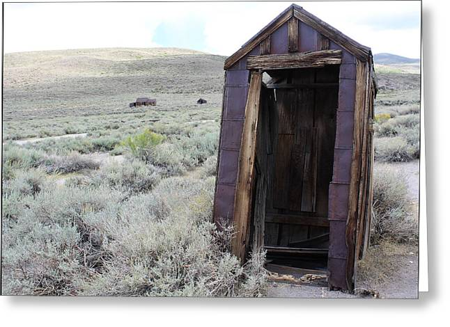 Bodie Out House Greeting Cards - Bodie Outhouse 17 Greeting Card by Lydia Warner Miller