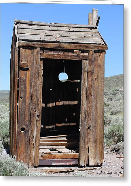 Bodie Out House Greeting Cards - Bodie Outhouse #22 Greeting Card by Lydia Warner Miller