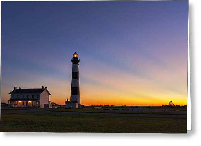 North Sea Greeting Cards - Bodie Rays at Dawn Greeting Card by Kate Silvia