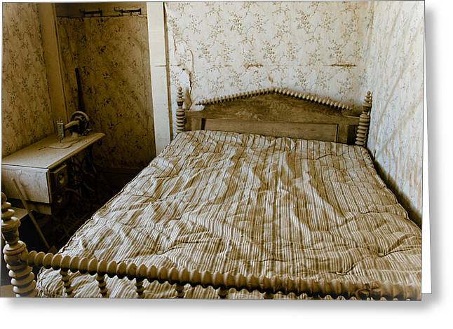 Historic Home Greeting Cards - Bodie State Historic Park bedroom Greeting Card by Celso Diniz
