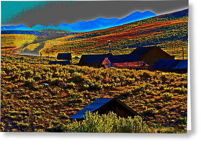 Bodie Sunset Greeting Card by Joseph Coulombe
