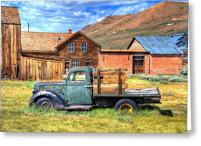 Old Trucks Greeting Cards - Bodie Truck Greeting Card by Mike Ronnebeck