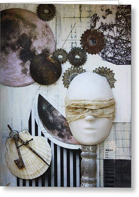 Metaphysics Mixed Media Greeting Cards - Bodies of Attraction c2011 Greeting Card by Paul Ashby