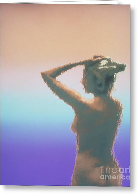 Female Body Greeting Cards - Body At Menopause Greeting Card by Bill Longcore