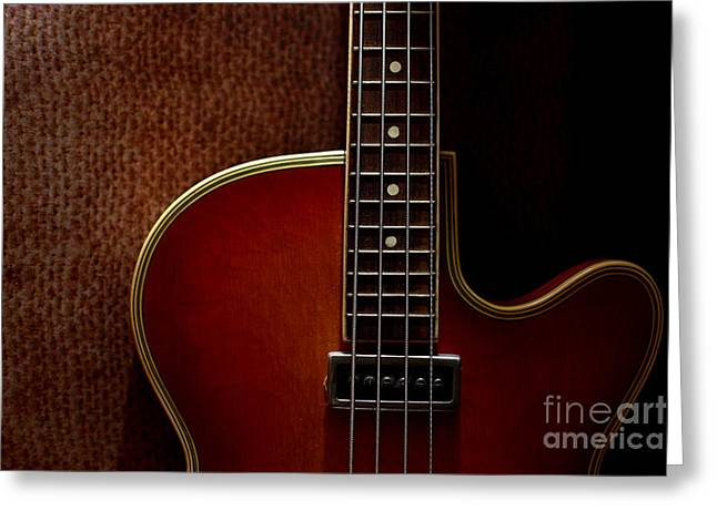 Intruments Greeting Cards - Body Of Bass Greeting Card by Jana Behr