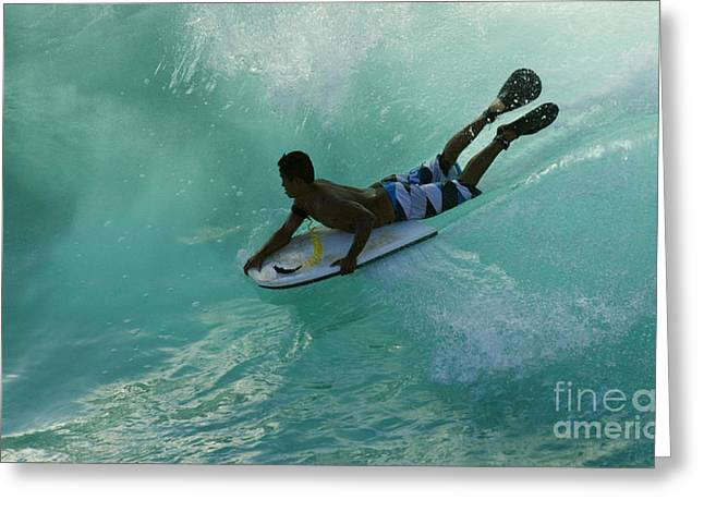 Adrenalin Greeting Cards - Body Surfer Greeting Card by Bob Christopher
