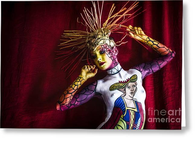 Hair Dye Greeting Cards - Bodypainting Greeting Card by Traven Milovich