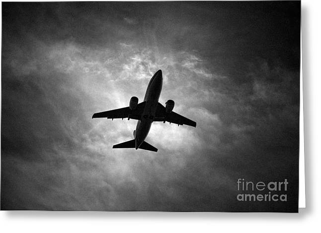 737 Greeting Cards - Boeing 737 Greeting Card by Rastislav Margus