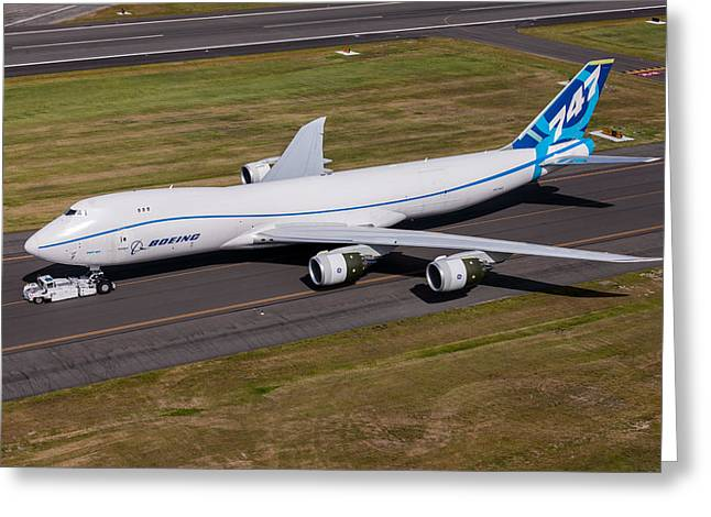 First Love Greeting Cards - Boeing 747-8F Greeting Card by John Ferrante