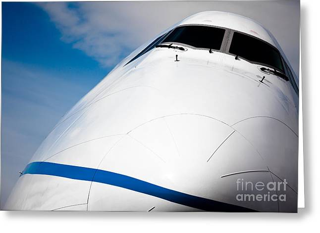 Turbojet Greeting Cards - Boeing 747 Greeting Card by Rastislav Margus