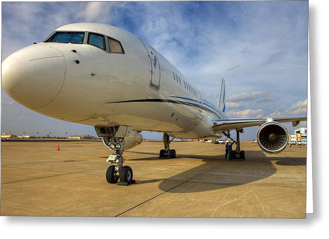 Jet Print Greeting Cards - Boeing 757 Greeting Card by Ricky Barnard
