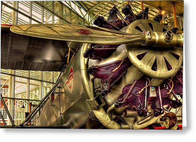 Plane Radial Engine Greeting Cards - Boeing 80A-1 Passenger Airplane Greeting Card by David Patterson