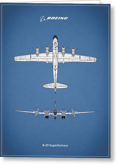29 Greeting Cards - Boeing B-29 Greeting Card by Mark Rogan