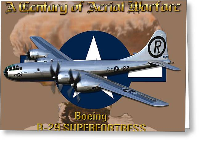 B29 Bomber Greeting Cards - Boeing B-29 Superfortress Greeting Card by Michael Colclough