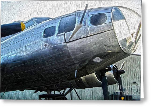 Boeing Flying Fortress B-17g  -  01 Greeting Card by Gregory Dyer