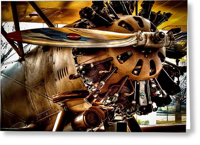 Plane Radial Engine Greeting Cards - Boeing Model 100 Greeting Card by David Patterson