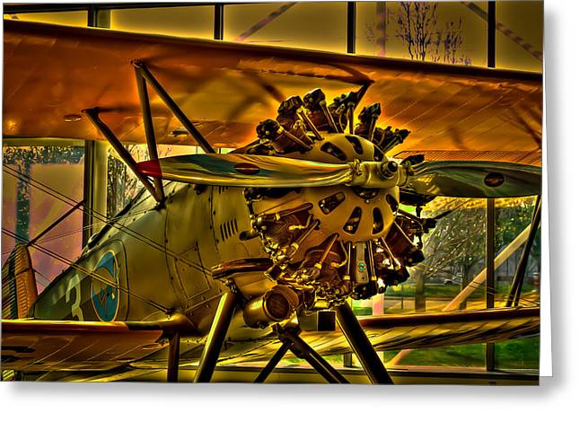 Plane Radial Engine Greeting Cards - Boeing Model 100 II Greeting Card by David Patterson