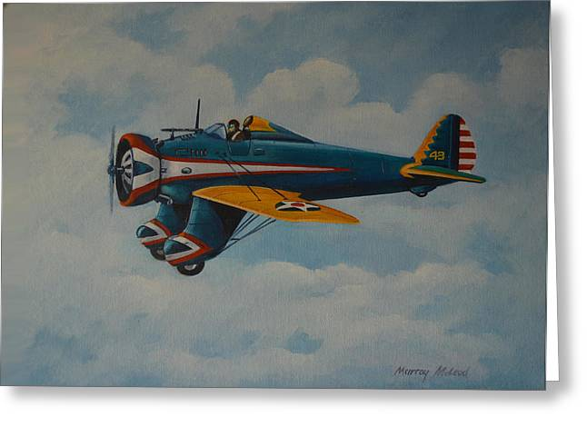 Murray Mcleod Paintings Greeting Cards - Boeing P26 Greeting Card by Murray McLeod