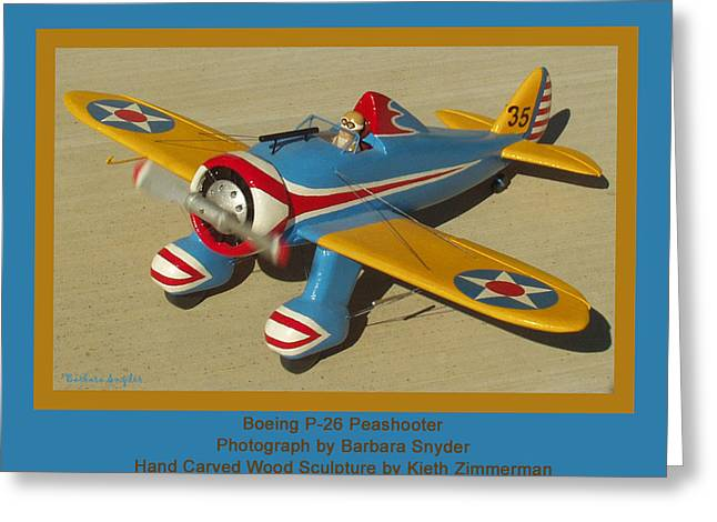 United States Army Air Corps Greeting Cards - Boeing P26 Peashooter Greeting Card by Barbara Snyder and Keith Zimmerman