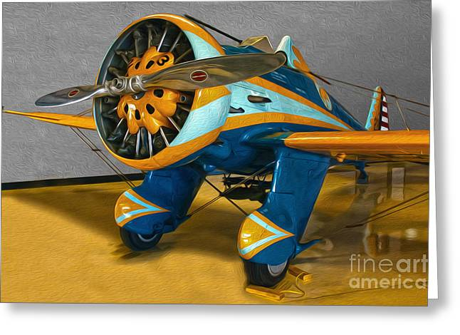 Boeing Peashooter P-26a  -  02 Greeting Card by Gregory Dyer