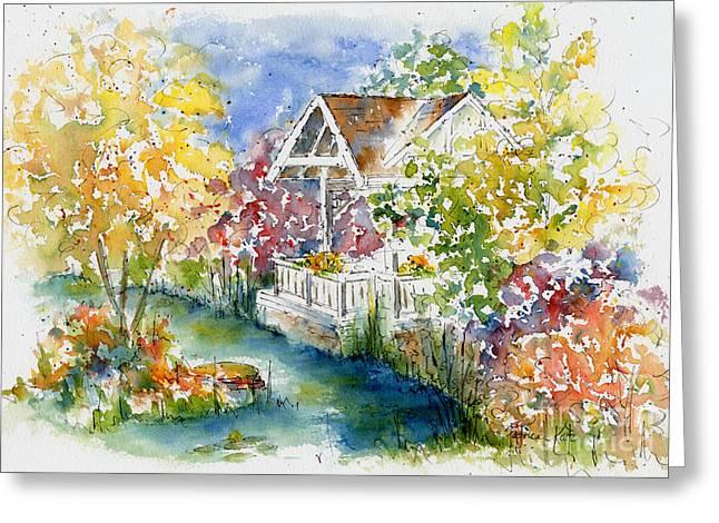 Boffin's Gardens Greeting Card by Pat Katz