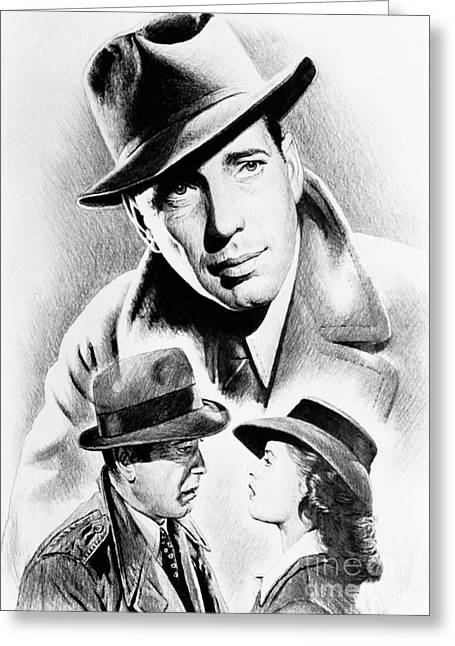 Casablanca Greeting Cards - Bogart Greeting Card by Andrew Read