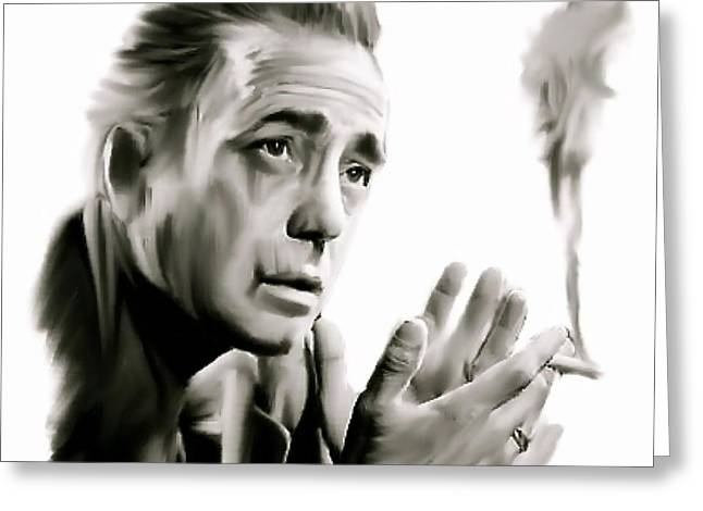 Bogey Greeting Cards - Bogey II   Humphrey Bogart   Greeting Card by Iconic Images Art Gallery David Pucciarelli