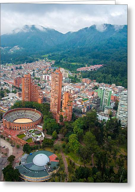Bogota Center Greeting Card by Jess Kraft