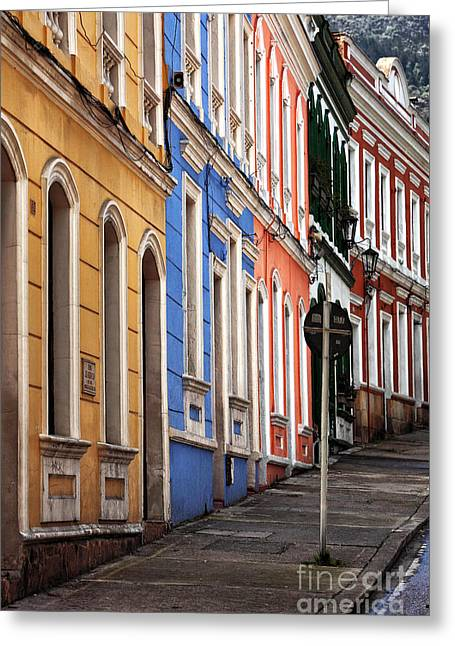 Bogota Colors Greeting Card by John Rizzuto