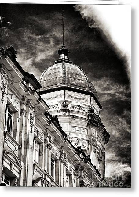 Bogota Plaza Dome Greeting Card by John Rizzuto
