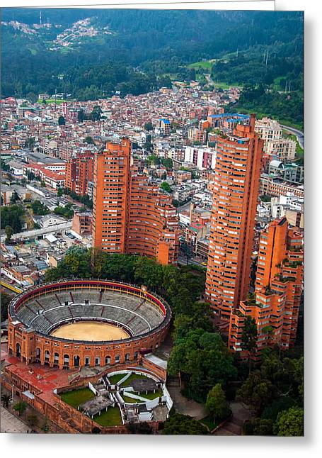 Bogota View Greeting Card by Jess Kraft