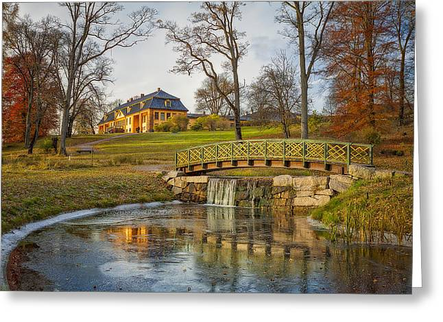 Rural Scenery Greeting Cards - Bogstad Manor Greeting Card by Erik Brede
