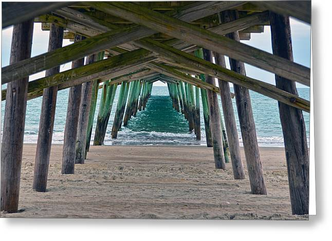 Sandi Oreilly Greeting Cards - Bogue Banks Fishing Pier Greeting Card by Sandi OReilly