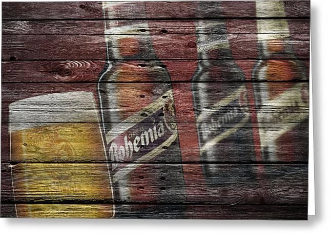 Saloons Greeting Cards - Bohemia Beer Greeting Card by Joe Hamilton