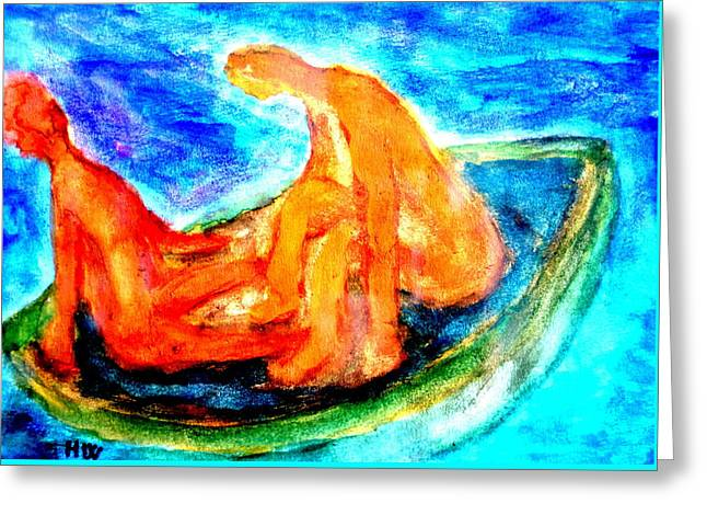 We Were Drifting Off Again, Just Like Some Old Bohemian Couple  Greeting Card by Hilde Widerberg