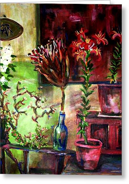 Interior Still Life Paintings Greeting Cards - Bohemian Like Me Greeting Card by Art by Kar