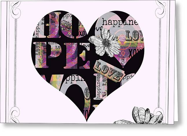 Couer Greeting Cards - Bohemian Love Affair Greeting Card by Anahi DeCanio