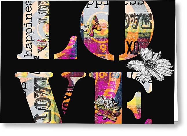 BOHO Love typography licensing art Greeting Card by Anahi DeCanio