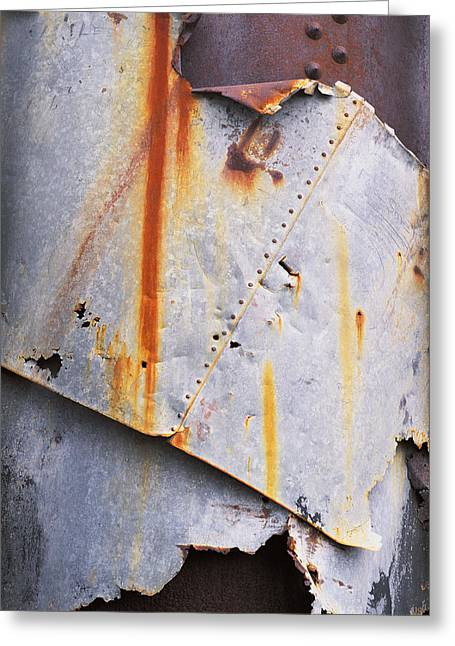Metal Sheet Greeting Cards - Boiler Repair? in Death Valley Greeting Card by Bob Hills