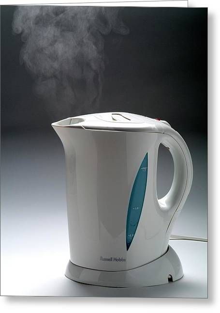 Boiling Kettle Greeting Card by Trevor Clifford Photography