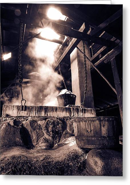 Kattegat Greeting Cards - Boiling point in BW Greeting Card by Eric Sloan
