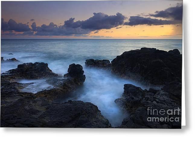 Kauai Greeting Cards - Boiling Sea Greeting Card by Mike  Dawson