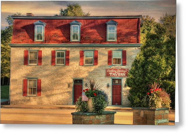 Boiling Greeting Cards - Boiling Springs Tavern Greeting Card by Lori Deiter